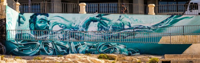 By Sofles and Dheo at the Sliema Street Art Festival. Photo by Asperholm Productions in Sliema, Malta 1