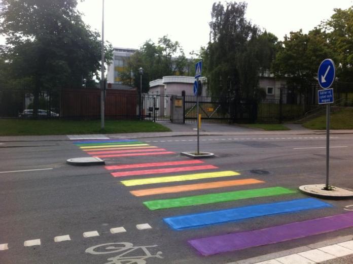 Street Art outside the Russian embassy in Stockholm, Sweden
