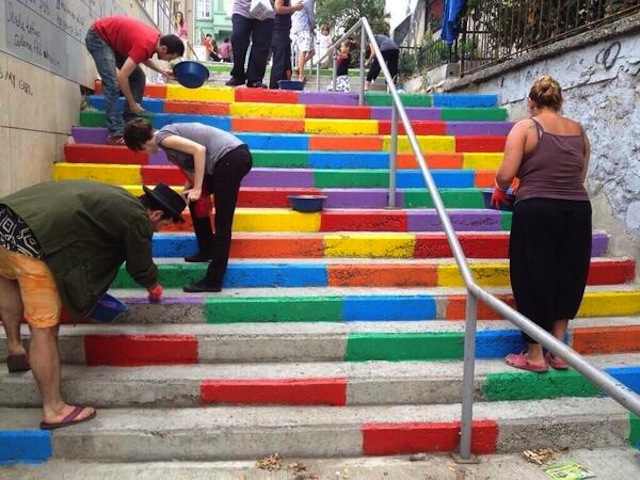 Street Art Color Steps in Turkey 5
