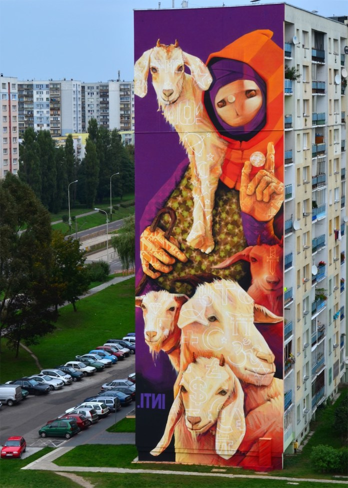 By INTI at GALERIA URBAN FORMS in Lodz, Poland