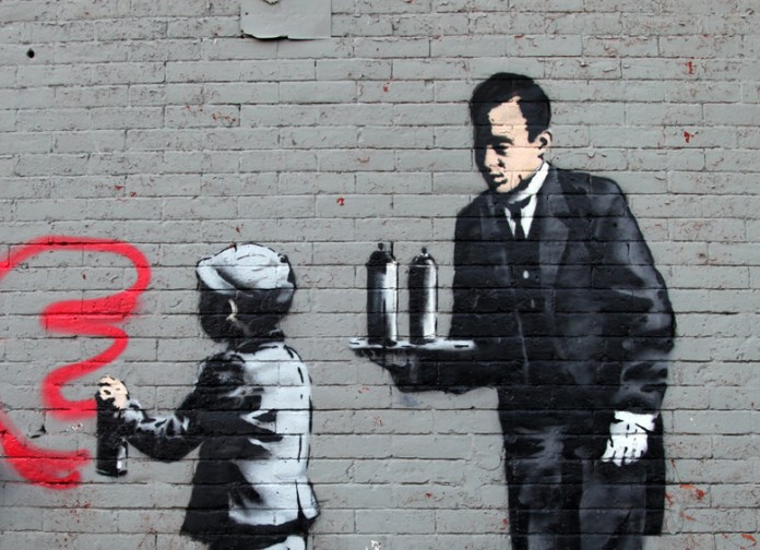 By Banksy – In South Bronx, New York, USA