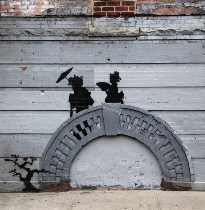 Street Art by Banksy in Bed Stuy, New York, USA