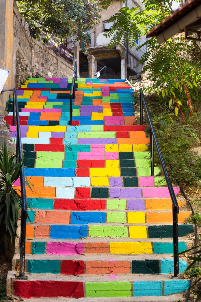 Tetris stairs – By Dihzahyners in Lebanon