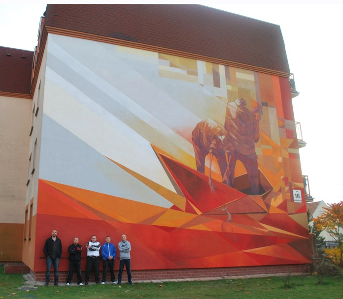 Mural by Pener and Sepe in Fordon, Vehicles, Bydgoszcz, Poland 2