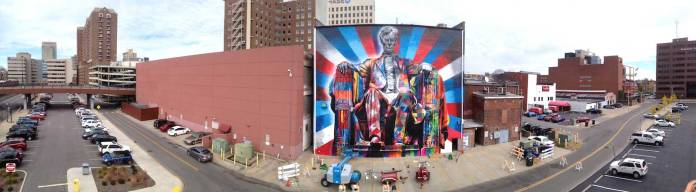 Street Art by Eduardo Kobra of Abraham Lincoln in Kentucky, USA 564789