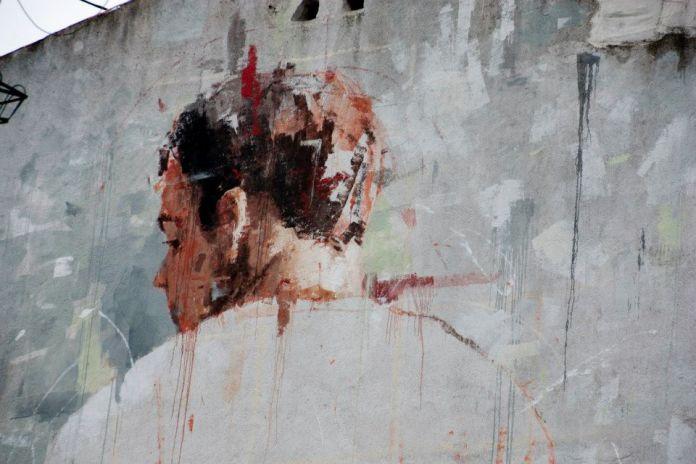 Street Art by Borondo in Tetuan, Madrid, Italy 5
