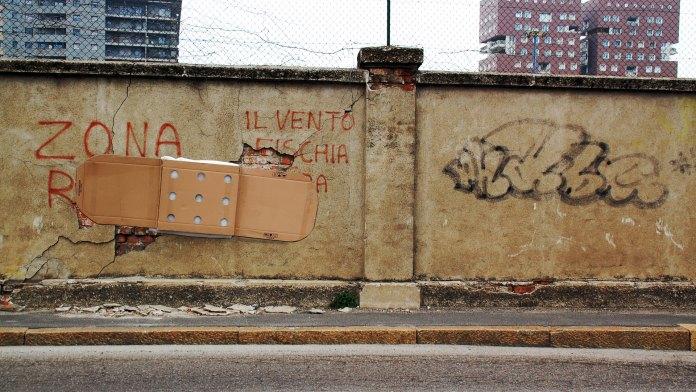 Street Art by Fra Biancoshock in Italy