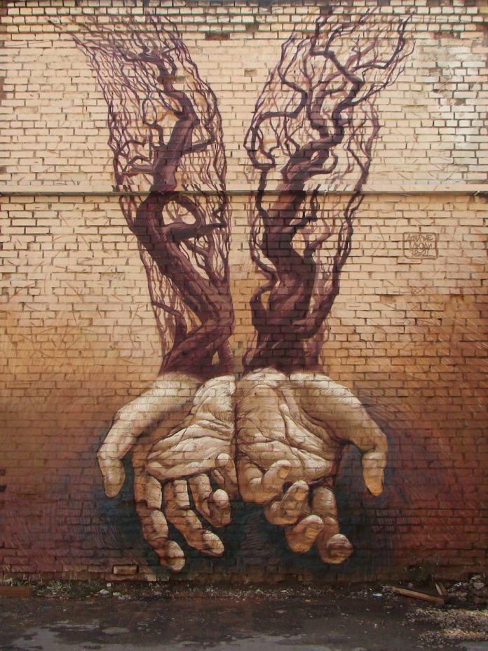Street Art by Alexander Grebenyuk and Fox in Kiev, Ukraine 50934