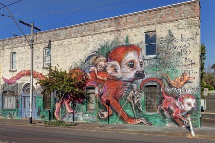 Street Art by Herakut in Melbourne, Australia