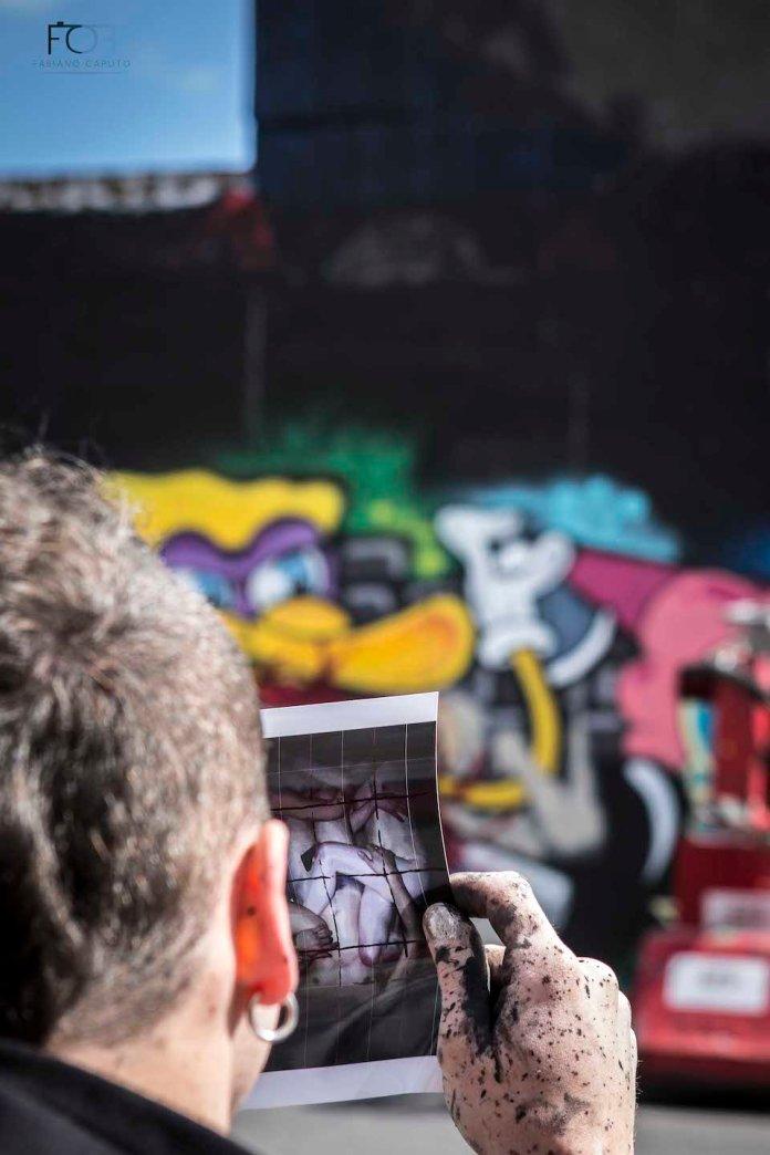 Street Art by Borondo in Shoreditch, East London 4