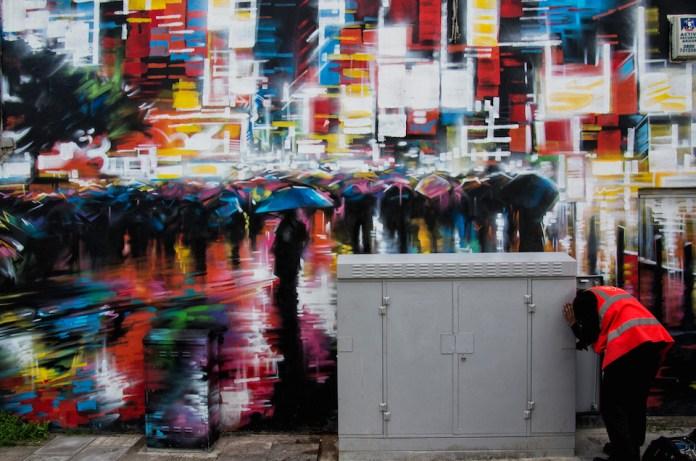 Street Art by Dank in Notting Hill, London, England