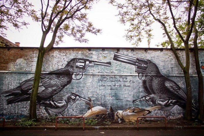 Street Art by Lonac at Ohoho Fest in Zagreb, Croatia