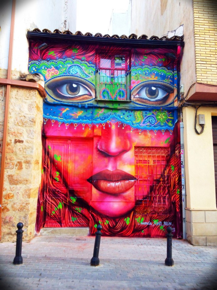 Street Art by Anarkia, Flantl and Belin in Linares, Spain