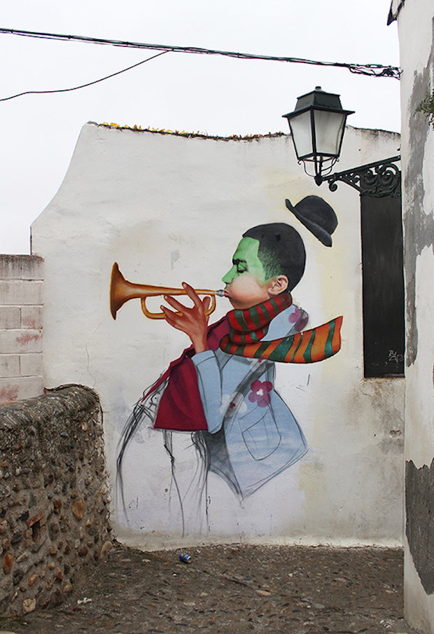 Street Art by Cheko - Winter Jazz in Granada, Spain 1