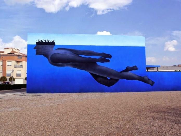 Street Art by Sam3 - Voluntas in Vila Real, Spain