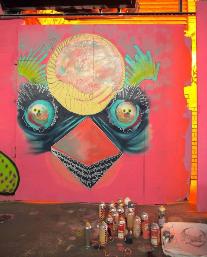Caris Knight's bird mural