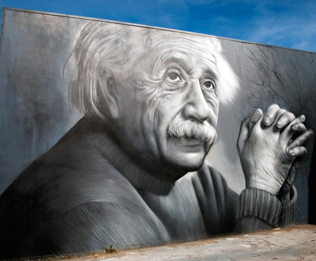 Graffiti by OD in Tauranga, New Zealand - Albert Einstein