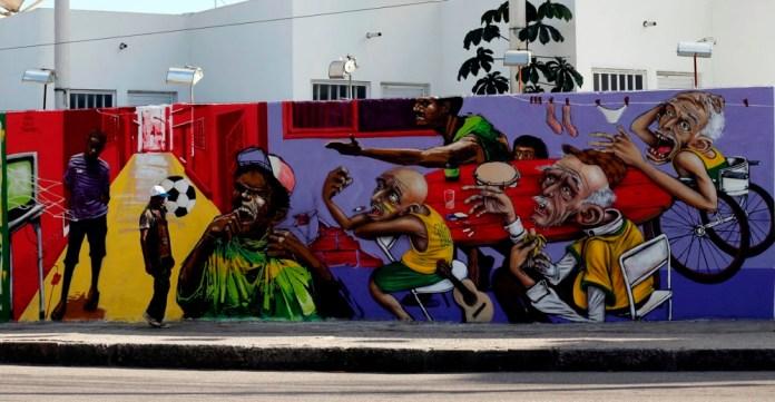 Street Art FIFA World Cup in Rio de Janeiro, Brazil 545543577