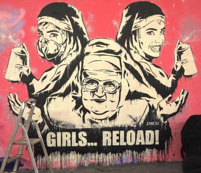 Zabou's witty graffiti