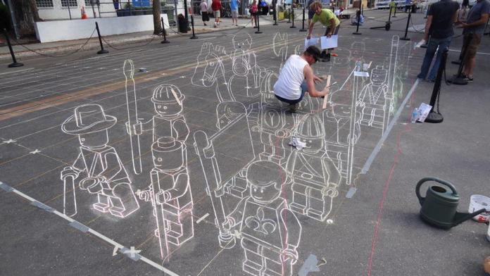 Street Art on Sarasota Chalk Festival