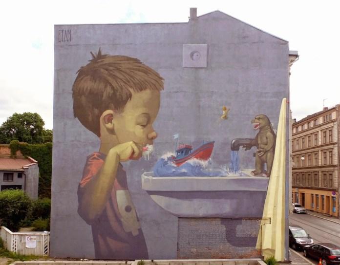 Street Art by Etam Cru in Oslo, Norway