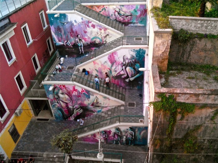 Street Art by Alice Pasquini in Salerno, Italy 3