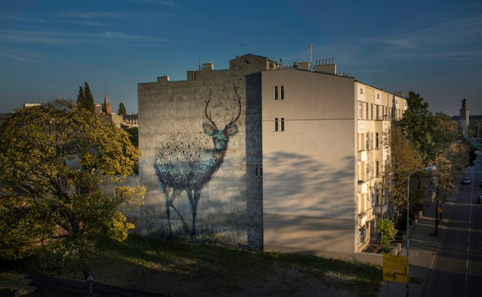 Street Art by DALEAST in Lodz, Poland in for Galeria Urban Forms project 2