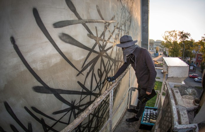 Street Art by DALEAST in Lodz, Poland in for Galeria Urban Forms project 4