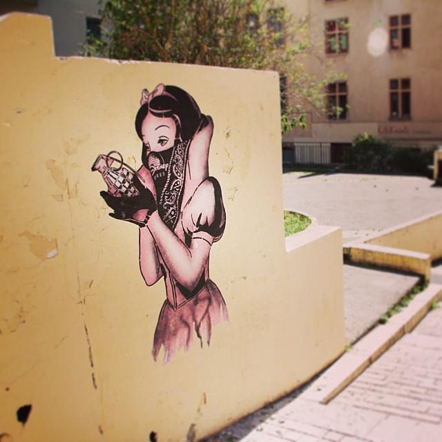 Street Art by Goin in Lyon, France - Bad Apple