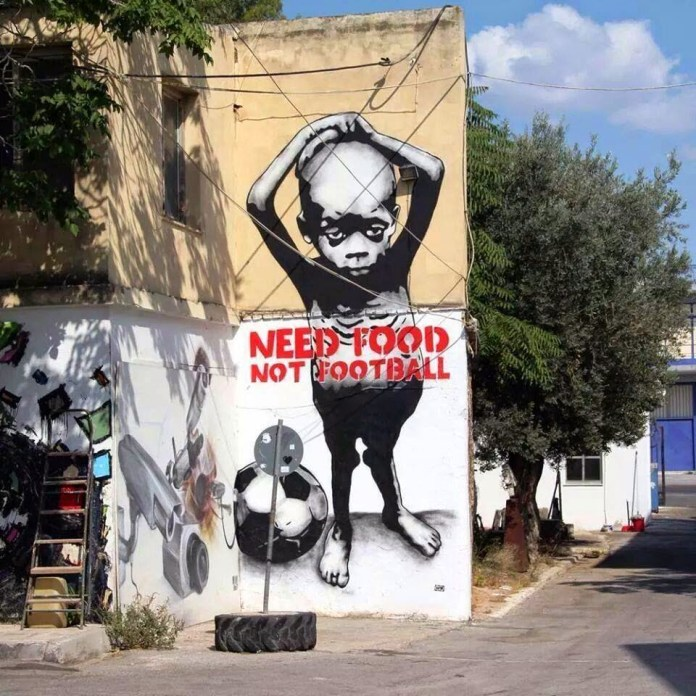 Street Art by Going in São Paulo, Brazil - Need food not football