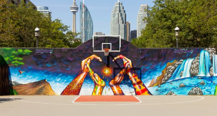 Mural in David Crombie Park, Toronto, ON, Canada 2