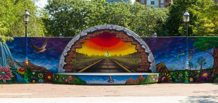 Mural in David Crombie Park, Toronto, ON, Canada 4