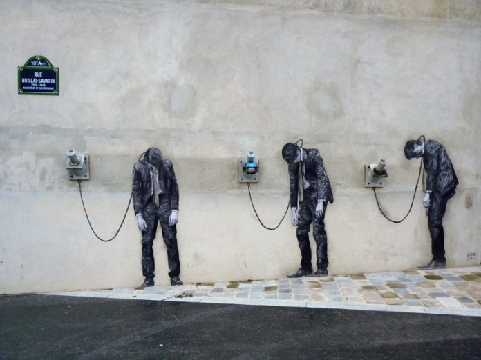 Street Art by Levalet in Paris, France