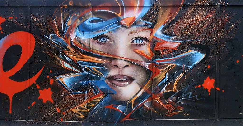 Street Art by Mr Shiz in London, England 1
