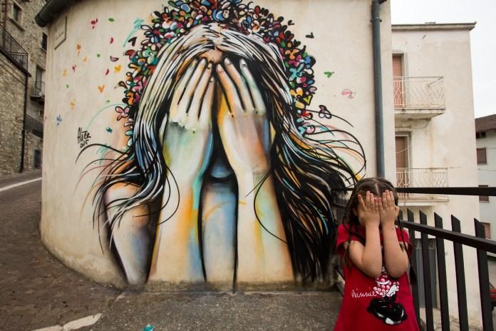 By Alice Pasquini – In Civitacampomarano, Molise, Italy