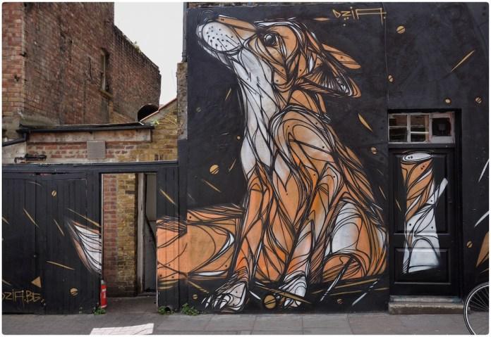 Fox – Street Art by Dazia in London, England