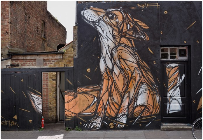 Fox - Street Art by Dazia in London, England