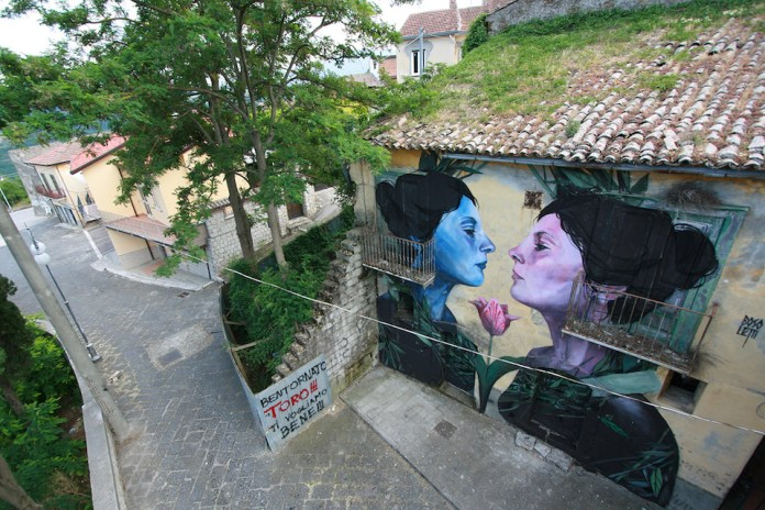 Street Art by Francisco Bosoletti in Bonito, Avellino, Italy 3