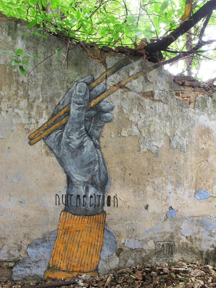 Street Art by Sath in Penang, Malaysia - Nutreetion