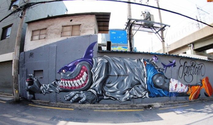 Street Art from Seoul Area, South Korea. Photo by Mark Johnson 2