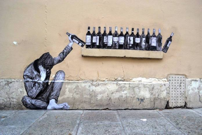 One too many – By Levalet in Paris, France