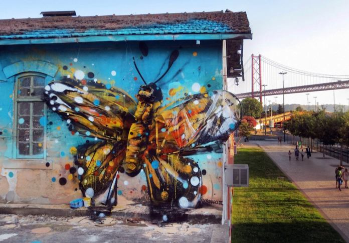 12 Street Art by Bordalo II in Alcantara Lisbon