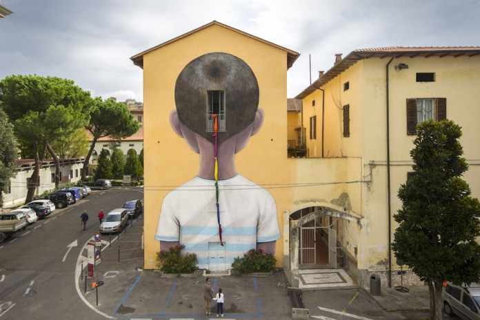 Street Art by Seth in Arezzo, Italy at Icastica 2015