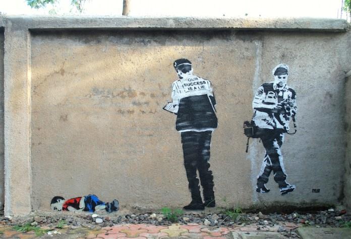Street Art by Tyler - Our success is a lie