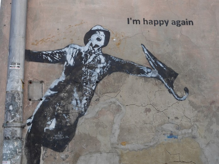 I´m happy again – Street Art in Krakow, Poland