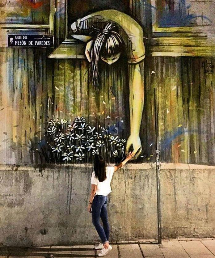 Street Art by Alice Pasquini in Madrid, Spain