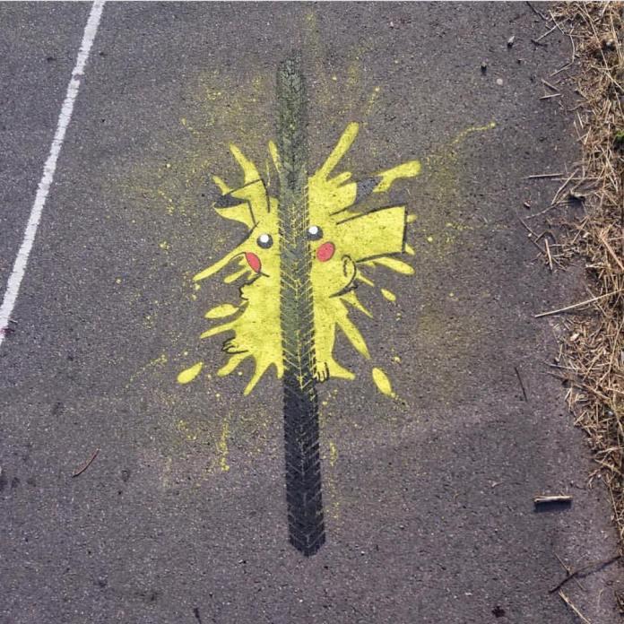 Street Art by Nme – Pikachu