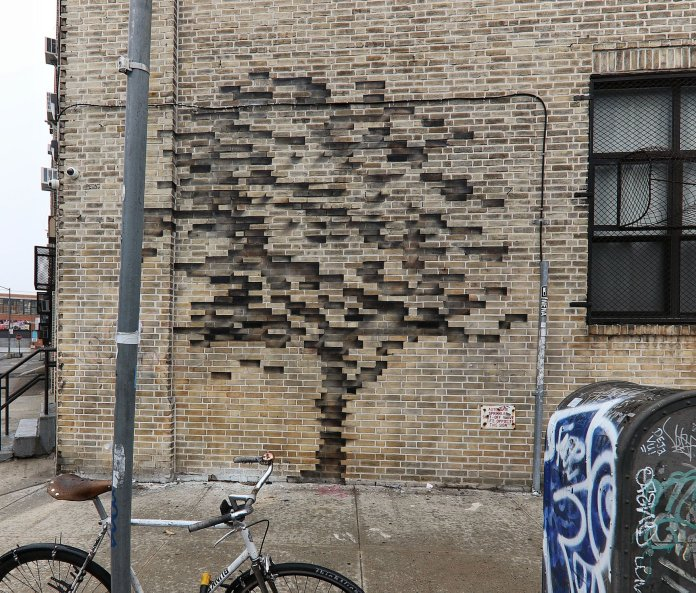 Street Art by Pejac – In Brooklyn, New York, USA