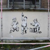 Trump, Kim and Borris - Street Art in Glasgow Scotland