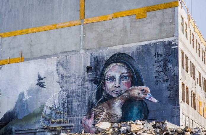 Street Art by Herakut – in Reykjavik, Iceland